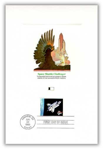 1995 $3 Challenger Shuttle Proof Card