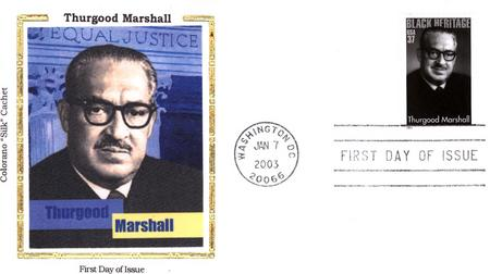 2003 Thurgood Marshall Colorano Silk Cachet First Day Cover