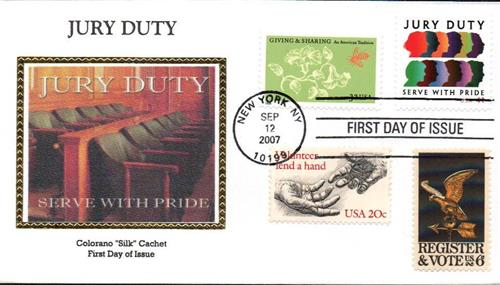 2007 41¢ Jury Duty Colorano Silk Cachet Combination First Day Cover