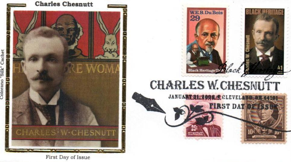 2008 Chesnutt Silk Cachet Combination First Day Cover