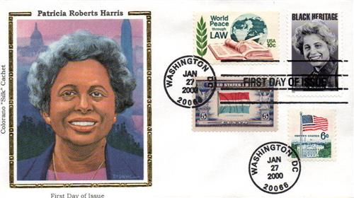 2000 Harris Colorano Silk Cachet Combination First Day Cover