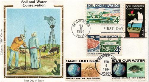 Soil and Water Conservation Colorano Silk Cachet Combination First Day Cover.