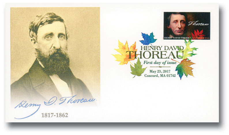2017 Thoreau Fleetwood First Day Cover with Digital Color Postmark