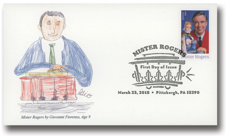 2018 First-Class Forever Stamp - Mister Rogers for sale at Mystic