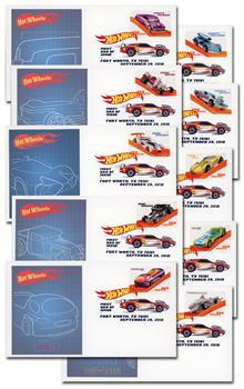 2018 Hot Wheels First Day Covers with Digital Color Postmarks