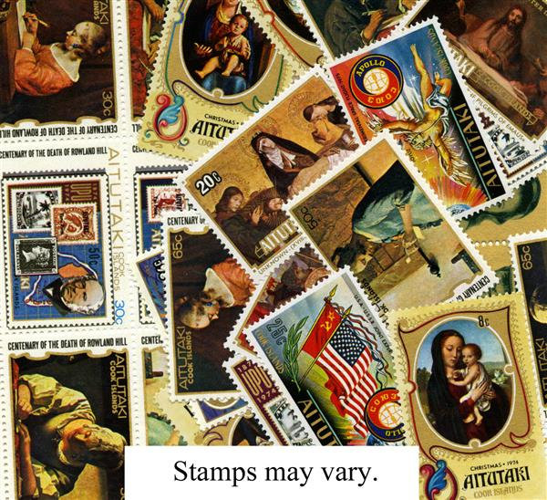 Aitutaki, set of 25 Mint stamps