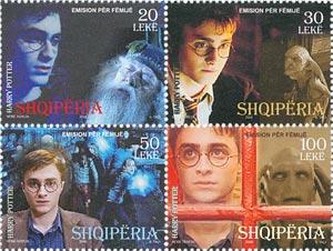 2009 Albania Harry Potter BL4 Mint