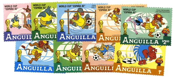 Anguilla World Cup Soccer, 9 Mint Stamps