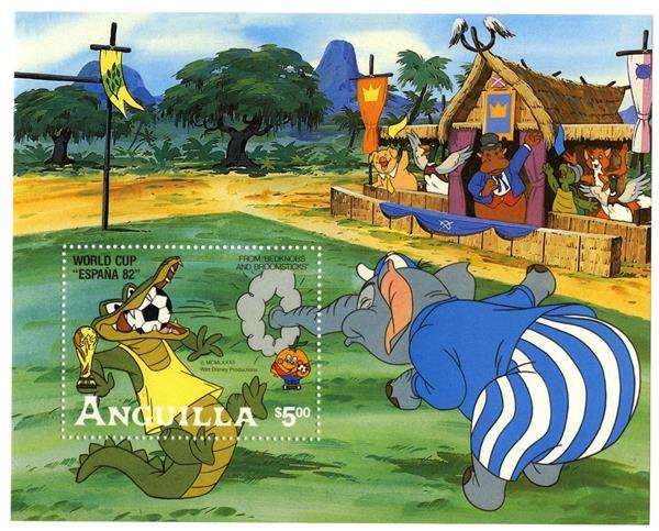 1982 Disneys World Cup Soccer, Mint Souvenir Sheet, Anguilla