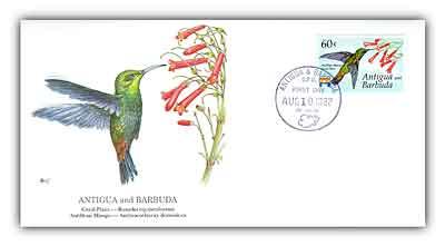 1992 Antigua/Barbuda 60c Hummingbird Plant FD