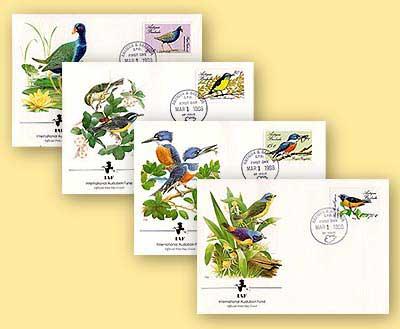 1988 Antigua & Barbuda Birds FDC Set of 4