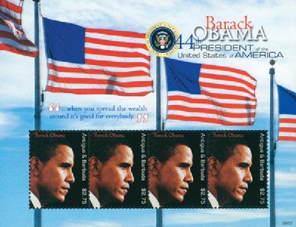 2009 Antigua President Obama 4v M