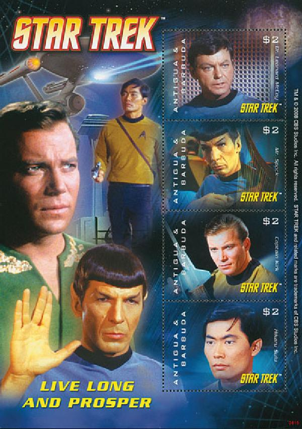 2008 Antigua Star Trek 4v M Sheet