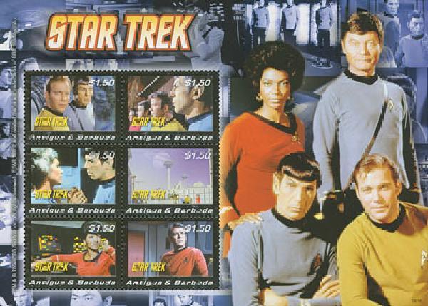 2008 Antigua Star Trek 6v M