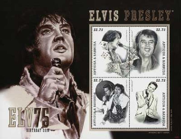 2010 Antigua Elvis 75th Birthday 4v M