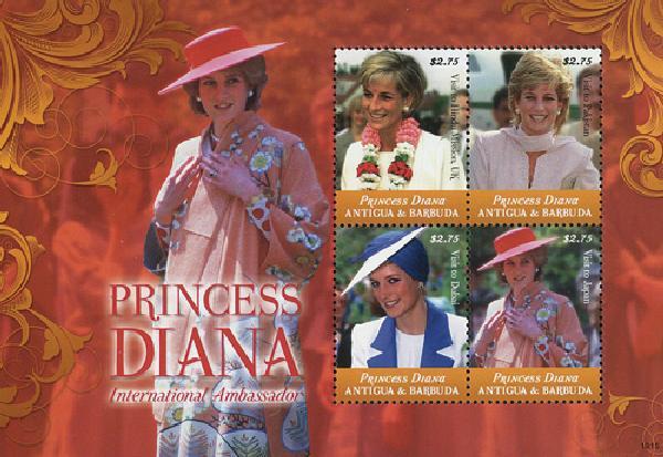 2010 Antigua Princess Diana 4v M