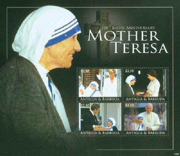 2010 Antigua Mother Teresa 100th Bday