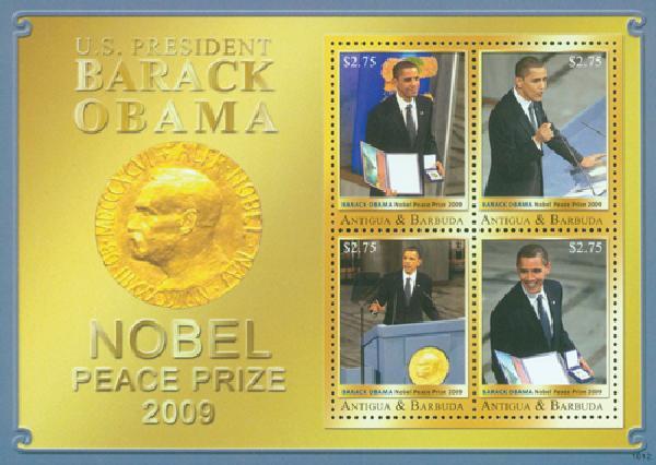 2010 Antigua Obama Nobel Prize 4v M