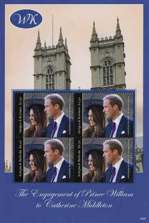 2010 Antigua/Barbuda William & Kate 4v M