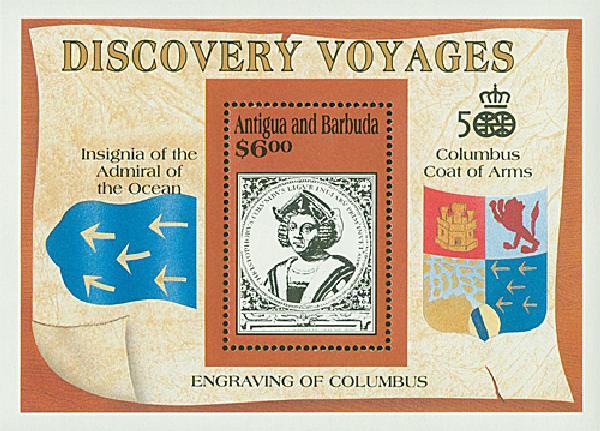 1991 Antugua #1420 Columbus s/s Mint