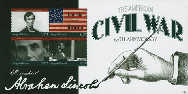 2011 Antigua U.S. Civil War 4v Mint