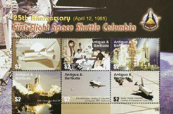 2006 Antigua 25th Anniv 1st Flight