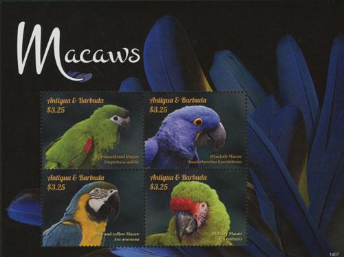 2014 Macaws 4v Sheet