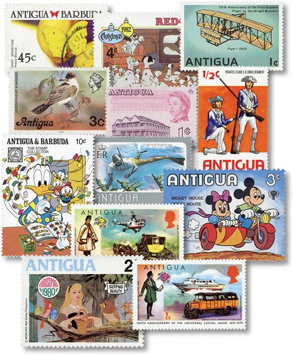 Antigua 75 Different Stamps