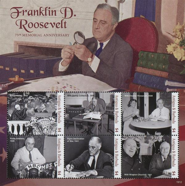 2019 FDR 75th Memorial Anniversary sheet of 6