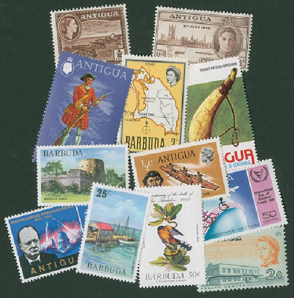 Antigua, 100 stamps