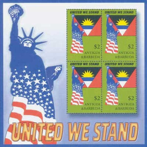 Ant.&Barbuda,$2 United We Stand,S/S,mint