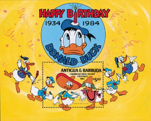 Antigua 1984 Donald Duck 50th Anniv.