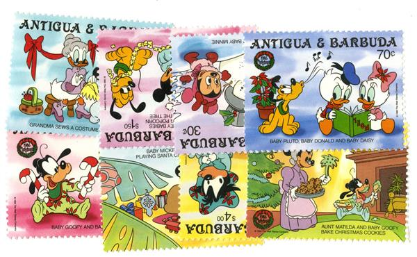 Antigua Christmas as Children, 8 Stamps