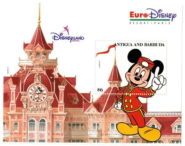 1993 Disneys Euro Disney Resort Paris, Mint Souvenir Sheet, Antigua-Barbuda