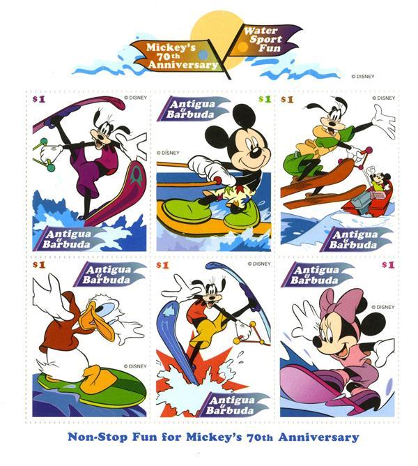 Antigua 1998 Water Sport Fun, 6 Stamps