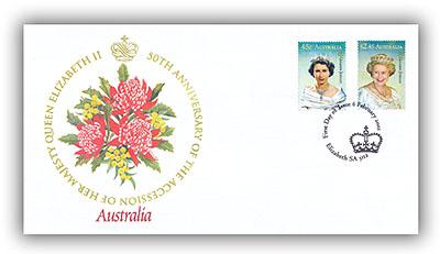 2002 Golden Jubilee  Australia FDC