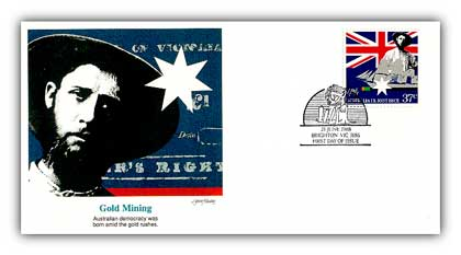 1988 Australia Joint Issue Gold Mining FDC
