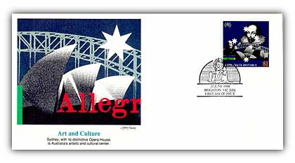 1988 Australia Joint Issue Art & Culture FDC