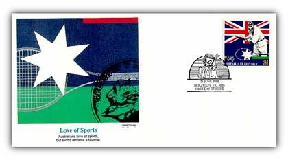 1988 Australia Joint Iss. Love of Sports FDC