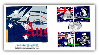 1988 Australia Joint Issue Combo FDC