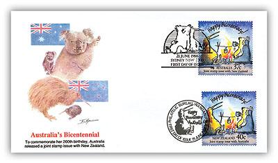 1988 Australia/New Zealand FDC Combo