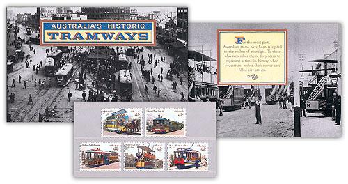41c 1989 AUS Historic Tramways Presentation Pack