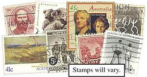 Australia, 50 stamps