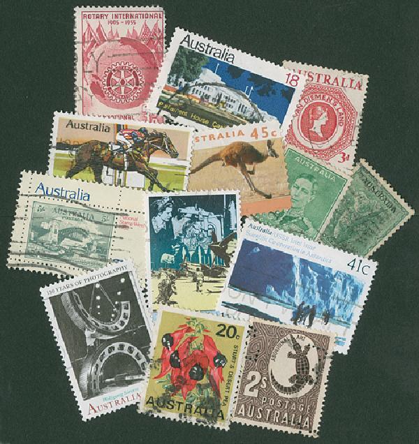 Australia, 100 stamps