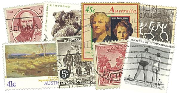 Australia Large Commems. 600 stamps used