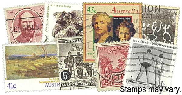 Australia Large Commems. 300 stamps used