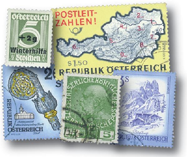 Austria, 100 stamps