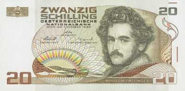 1 Austrian Banknote, Z Schilling