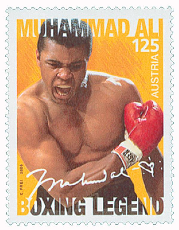 2006 Austria Muhammad Ali Mint Stamp