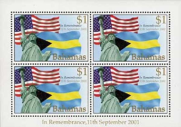 2002 Bahamas #1039 4v Mint
